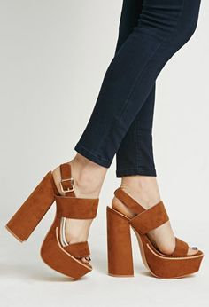 Faux Suede Strappy Sandals   Forever 21   #stepitup