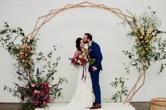 Nicole & Luke's colourful wedding at Airship 37 - Foxes Photography, Bustle, Sash, Wedding Colors, Brides, Wedding Planning, Wedding Day, Wedding Dresses, Image