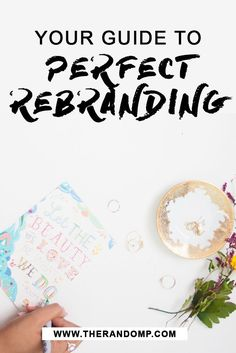 So you have thouģht about rebranding, but... you don't know where to start? I have the perfect answers over here: therandomp.com/...