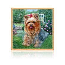Hond Diamant Borduurwerk 5d Diamond DIY Schilderen Dier Kruissteek Home Decor(China (Mainland))