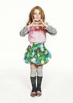 Molo Kids Autumn Winter 2013 AW13 FW13 kids style rabbit print skirt