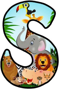 Letras Jungle Party, Safari Party, Safari Thema, Safari Theme Birthday, Alfabeto Animal, Scrapbook Letters, School Murals, Fancy Letters, Alphabet And Numbers