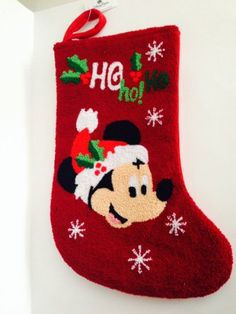Disney Park Mickey Mouse Textured Christmas Holiday Stocking NEW Disney Christmas Stockings, Disney Christmas Decorations, Mickey Christmas, Christmas Holidays, Christmas Ornaments, Holiday Decor, Christmas Stocking Stuffers, Stocking Holders, Mickey Mouse