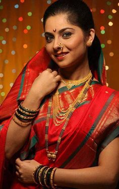 #Sonalee Kulkarni is an Indian actress, originally from Pune, India. She is noted for her role in the acclaimed 2009 Marathi film Natarang.#Marathi #actress #marathi #movies