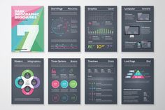 Infographic Brochure 7 Dark Version. Business Infographic. $9.00