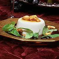 Savoury Sweets: Goat-Cheese Panna Cotta With Bacon Syrup and Cashews