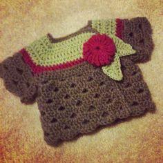 My first crochet baby cardigan!