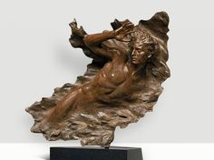Frederick Hart sculpture for sale Ex Nihilo Figure 3 available through Robin Rile Fine Art. Contact info@robinrile.com for further details.  Escultura.