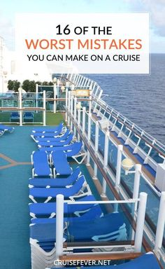 Don't make these mistakes on your next cruise!  Some great tips here.  #cruisetips #cruising Let us help you plan a stress free sailing by requesting a quote at http://destinationsinflorida.com/pinterest