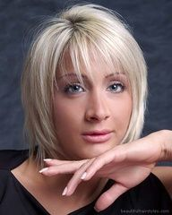 Modern Short Haircut with Razor Finish  great style for fine, thin hair