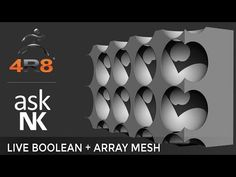 Zbrush 4R8 - Live Boolean+Array Mesh - YouTube
