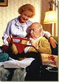 Old Couple/Underwear envelope) - Valentine's Day Card - FRONT: No Text INSIDE: If your reaction lasts more than four hours.
