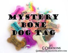 Items similar to ANY TWO Bone Dog Tags Bundle - Personalized Handmade Pet ID - Glow in the Dark - Colorful Glitter Sprinkles Dog Collar Accessory - Set Pack on Etsy Cute Dog Tags, Dog Id Tags, Cute Dogs, Bottle Jewelry, Pets For Sale, Can Dogs Eat, Pet Id, Dog Boarding, Dog Accessories