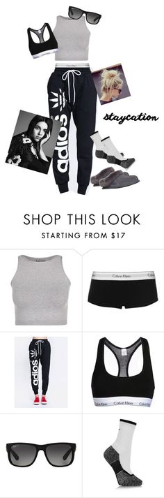"""""""Dunkin Donuts"""" by nsubramaniam01 ❤ liked on Polyvore featuring Free People, Calvin Klein, ZooShoo, Calvin Klein Underwear, Ray-Ban, NIKE and UGG Australia"""