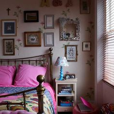 Pink eclectic bedroom