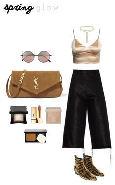 """Spring"" by zeynepkartal on Polyvore featuring güzellik, Marques'Almeida, Linda Farrow, Louis Vuitton, Yves Saint Laurent, Bobbi Brown Cosmetics ve springglow"