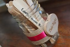 Bridal Shower Game, Marriage Advice for the Bride and Groom, Date Night Ideas
