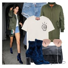 """""""Kendall Jenner"""" by justadream133 ❤ liked on Polyvore featuring One Teaspoon, WearAll, Gucci, 3.1 Phillip Lim, Ray-Ban, jenner, kendall and kendalljenner"""