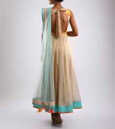 Mohini Goyal Multicoloured Embroidered Silk Anarkali Suit - BACK Click on the photo to shop!