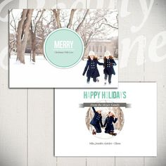 Christmas Card Template Full of Love A  5x7 by BeautyDivineDesign, $8.00