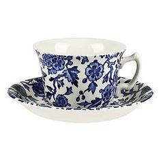 Burleigh Arden, Tea Cup & Saucer, Blue