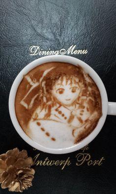Reimu - Touhou latte art by Kazuki Yamamoto