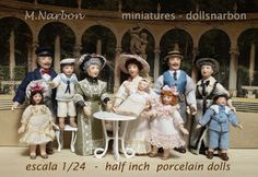 porcelain dolls scale 1/24 by M.Narbon