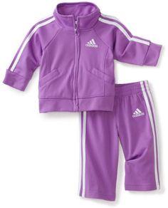 adidas Baby-Girls Infant Iconic Tricot 2 Piece Sweatsuit Set
