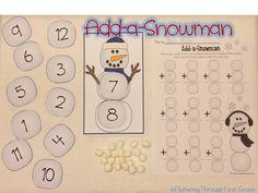 Fluttering Through First Grade: Add-a-Snowman