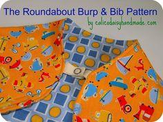 Roundabout Burp and Bib PDF Pattern and Tutorial. $6.00, via Etsy.