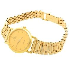 9Carat Omega De Ville Ladies Yellow Gold Quartz Watch 1996 - Perfect Condition - Jollys Jewellers