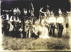 Yurok group - circa 1920