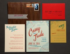 Image of Scout Wedding Invitation Suite  by Ladyfingers Letterpress #invites #invitations #wedding