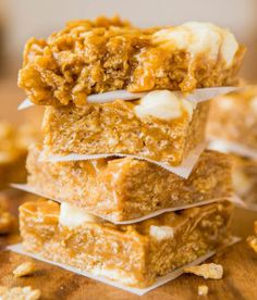 Homemade No-Bake Peanut Butter Marshmallow Cereal Bars