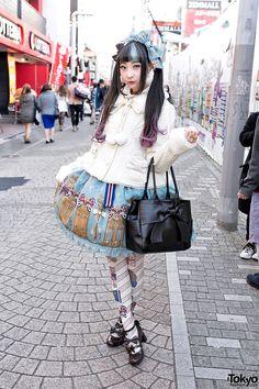 RinRin Doll is a well-known Tokyo-based fashion model and YouTuber. RinRin Doll on Takeshita Dori in Angelic Pretty & Milk Harajuku Fashion