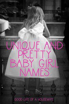 Unique and Pretty Baby Girl Names for 2019 - Pretty Baby Names - Ideas of Pretty Baby Names - Unique and Pretty Baby Girl Names C Girl Names, Girly Girl Names, Pretty Baby Girl Names, Best Girl Names, Unique Girl Names, Unusual Baby Names, Unique Baby, Pretty Irish Girl Names, Short Baby Girl Names