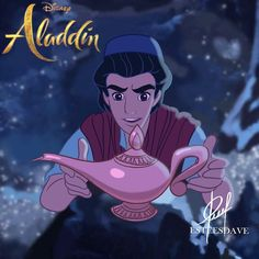 Aladdin and the Magic Lamp from Disney's live action movie Aladdin Aladdin Art, Aladdin Live, Watch Aladdin, Disney Live, Disney Magic, Disney Fan Art, Disney Style, Disney Cartoons, Disney Movies