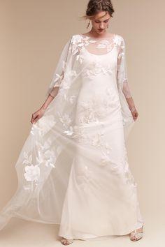 Rhiannon Cape & Monroe Gown from @BHLDN