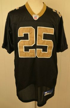 Details about New Orleans Saints Jersey Reebok Authentic Reggie Bush 25  Size 52 White ce40d12d3