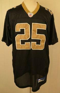 6c5946bfc7f Reebok New Orleans Saints Jersey #25 Reggie Bush Authentic NFL Size 52  Black #Reebok
