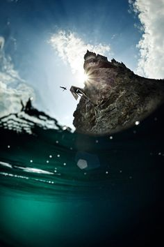 """""""Cliff Diving"""" Red Bull illume by Samo Vidic Cliff Diving, Cliff Jump, Greatest Adventure, Under The Sea, Wonders Of The World, Underwater, Cool Photos, Surfing, Ocean"""