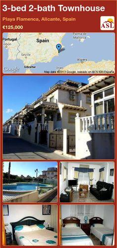 3-bed 2-bath Townhouse in Playa Flamenca, Alicante, Spain ►€125,000 #PropertyForSaleInSpain