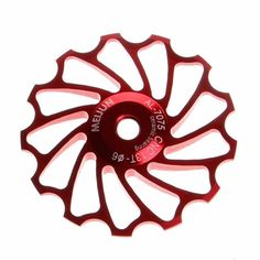 Bike Accessories,Vovotrade 13T MTB Ceramic Bearing Jockey Wheel Pulley Road Bike Bicycle Rear Derailleur (Red). ★★★ Product: Bicycle rear derailleur pulley wheel...... Size: 13 T. ★★★ Structure: ceramic bearings...... Material: aluminum alloy 7005...... Diameter: 50mm. ★★★ Apply for most rear derailleur in the market, support 7/8/9/10 speed. ★★★ Setting for 4/5/6mm spindle shaft rollers. ★★★ Transmission for a bicycle,stainless steel bearing for ultra durability.