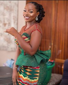 Photo by Wedding Fashion Photographers in Accra, Ghana with and Image may contain: 1 person, standing African Dresses For Kids, African Maxi Dresses, Latest African Fashion Dresses, African Print Fashion, African Attire, Ankara Fashion, African Fashion Traditional, African Lace Styles, Kente Styles