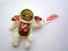 Toppy Little  sheep , soft art  toy creature  by Wassupbrothers. MADE TO ORDER