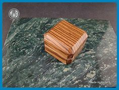 Ring box of solid zebra wood with free engraving - Venue and reception decor (*Amazon Partner-Link)