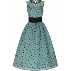 Cindy  Popularly Pretty Polka Dot Print Vintage 50 s Party Dress  6adcbe7c6b
