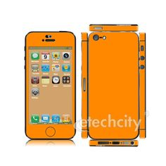 Colorful Skin Cover Screen Protector for Apple iPhone 5 [CCSK-PHVP11] - $12.00 : Orange