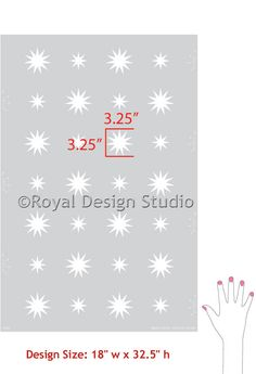 Want this for Harp's room - $42 Modern Wall Stencil | Starry Night Polka Stars | Royal Design Studio