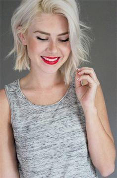 platinum blonde bob hairstyles - Google Search